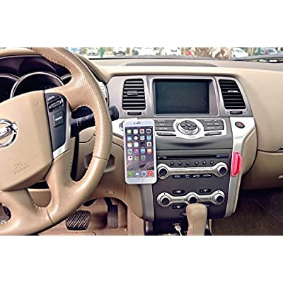 Magnetic Cell Phone Holder by EasyHold - for All Phone Sizes, Apple Or Android - Easy Install On Any Surface Including Desk, Wall, Or Car Dashboard