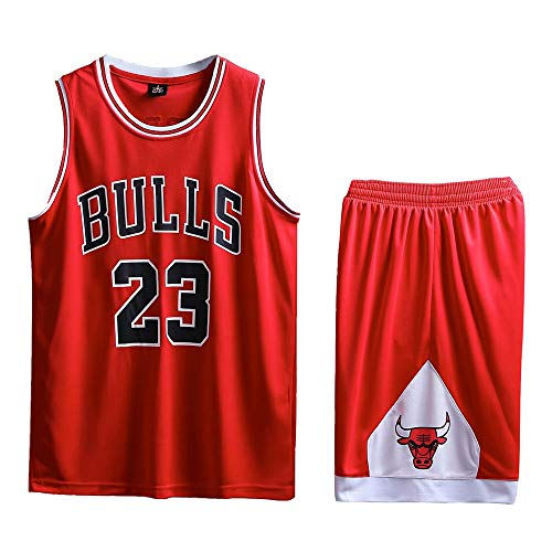 AIALTS Adult Children and Teenagers Basketball Jersey Set,Bulls 23 Jordan Basketball Uniform,Mesh Quick-Drying Vest and Shorts for Man Woman Boy Girl Youth,Red,kid30 (Bulls Jersey Christmas Chicago)
