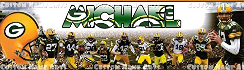 Personalized Nfl Picture (Personalized Greenbay Packers NFL Banner Birthday Poster Custom Name Painting)