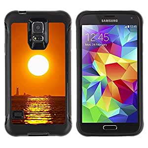 "Hypernova Defender Series TPU protection Cas Case Coque pour Samsung Galaxy S5 V [Puesta de sol Mar Beautiful Nature 16""]"
