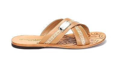 6d0dc9a6b63 Good Man Beige Leather Italian Designer Men Summer Sandals (39EU 5US)