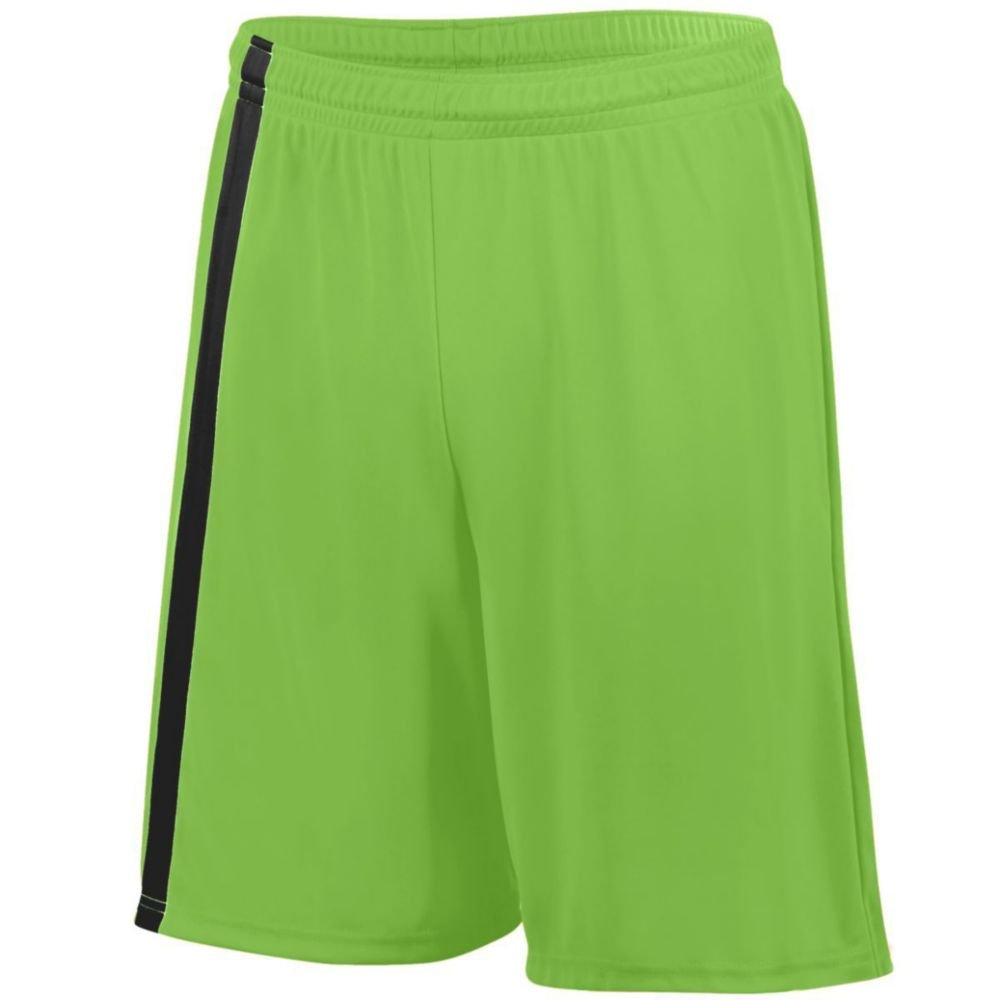 Augusta Activewear Attacking Third Short - Youth, Lime/Black, Large by Augusta Activewear