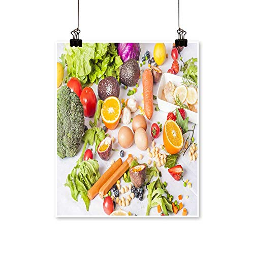 Modern Painting Collection of Vegetable and Vegetable Artwork for Home Decorations,12