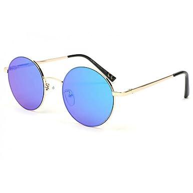 Eye Wear Lunette de soleil ronde miroir bleu Obladi - Mixte 3QkjTHEXM