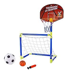 MRKE 2 en 1 Portátil Plegable Canasta Baloncesto Infantil