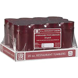 Bakers & Chefs Restaurant Tumblers - 20oz/24ct (Red)