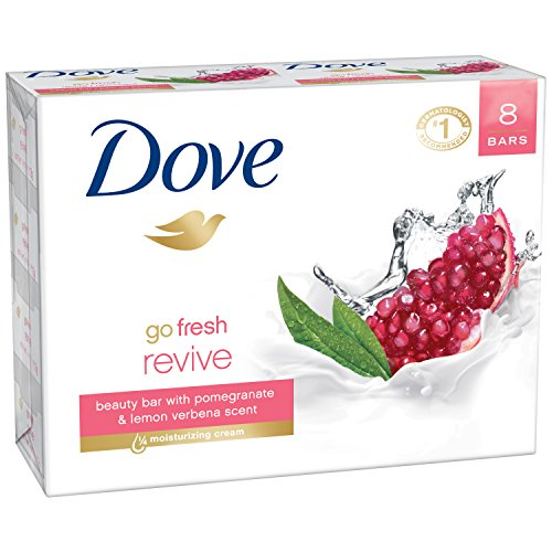Dove go fresh Beauty Bar, Pomegranate and Lemon Verbena 4 oz, 8 Bar