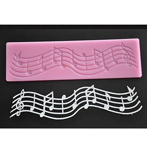 FOUR-C Silicone Lace Mat Cake Decor Pad Music Decoration Mat Color (Music Cake)