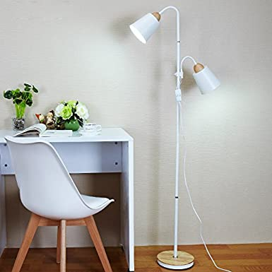 Lámpara de pie para dormitorio, lámpara de mesa vertical ...