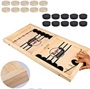 Fast Sling Puck Game Paced,Tinfence Table Desktop Battle,Winner Board Games Toys for Adults Parent-Child Inter