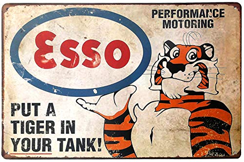 (Put A Tiger In Your Tank Fun Saying Metal Tin Sign, Vintage Poster Plaque Gas Station Garage Home Wall Decor)