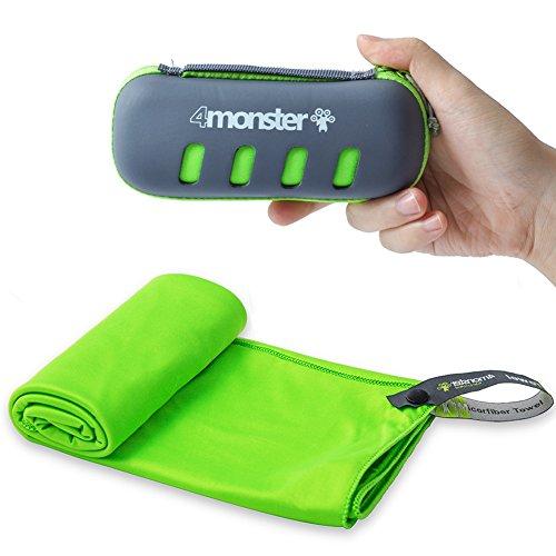 (4MONSTER Microfiber Towel, Travel Towel, Camping Towel,Medium Size 24 x 48