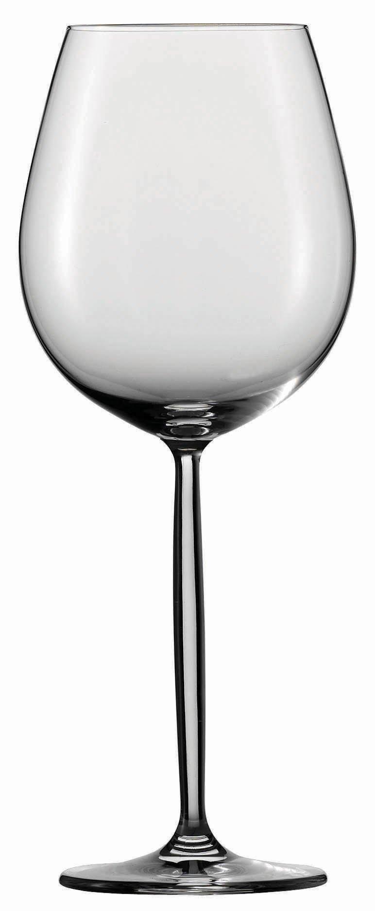 Schott Zwiesel Tritan Crystal Glass Diva Stemware Collection Burgundy Red Wine Glass, 15-1/2-Ounce, Set of 6