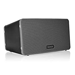 Sonos Play:3 – Mid-Sized Wireless Smart Home Speaker for Streaming Music, Amazon Certified and Works with Alexa. (Black)