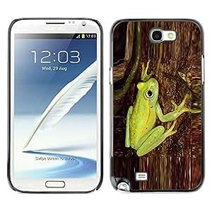 rígido protector delgado Shell Prima Delgada Casa Carcasa Funda Case Bandera Cover Armor para Samsung Note 2 N7100 /Green Tree Bark Nature Forest/ STRONG