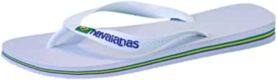 Havaianas Brasil Logo Chanclas Unisex Adulto, Blanco (White), 39/40 EU