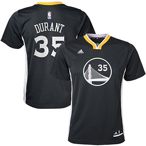 Adidas Boys' Kevin Durant Golden State Warriors #35 Youth Alternate Replica Short Sleeve Jersey, Youth Medium - Medium Kevin Durant Youth Jersey