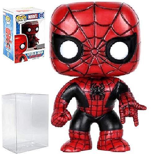 Marvel: Spider-Man #3 Hot Topic Exclusive Red/Black Costume Funko Pop! Vinyl Figure (Includes Compatible Pop Box Protector Case) ()