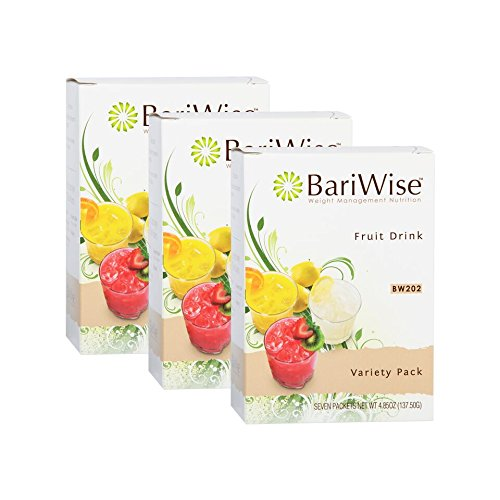 BariWise High Protein Powder Fruit Drink (15g Protein) / Low-Carb Diet Drinks - Variety Pack (3 Boxes - Save 5%) - Fat Free, Low Carb, Low Calorie, Sugar Free (Best Fruit Flavored Protein)