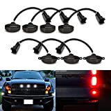 2013 ford raptor accessories - iJDMTOY Complete 7-Piece Smoked Lens 84-SMD LED Grille Running Lights and Front/Rear Side Marker Lights For 2010-2014, 2017-up Ford Raptor (Front White, Rear Red)
