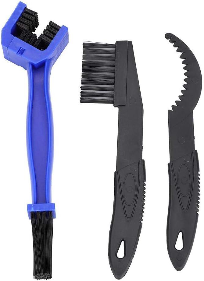 Bike Brush,3pcs Bike Chain Crank Sprocket Cleaning Tool Bicycle Washing Brushes Tackle Kit Accessory