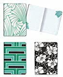 Set of 3 Florence Broadhurst Pocket Journals (Spot Floral) - 96 Lined Pages in each Notebook - 4.25' x 6.125' Notepad Size