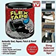 "Pramukh Enterprice Flex Tape - Strong Rubberized Waterproof Tape Black 4"" X 5'"