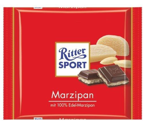 Ritter Sport Marzipan - RITTER SPORT: Dark Chocolate Marzipan Bar: 12 Count