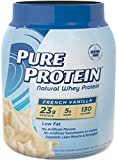 Pure Protein Natural Whey Powder - French Vanilla, 1.6 pounds (Packaging May Vary)