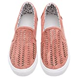 Royou Yiuoer Womens Shoes Classic Canvas Fashion Slip On Loafer Comfort Cushioned Walking Flat Sneaker Pink US 4