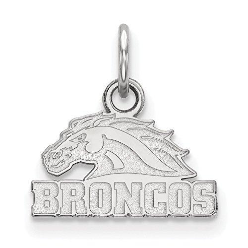 (14k White Gold Western Michigan University Broncos Mascot Head Pendant XS - (10 mm x 12)
