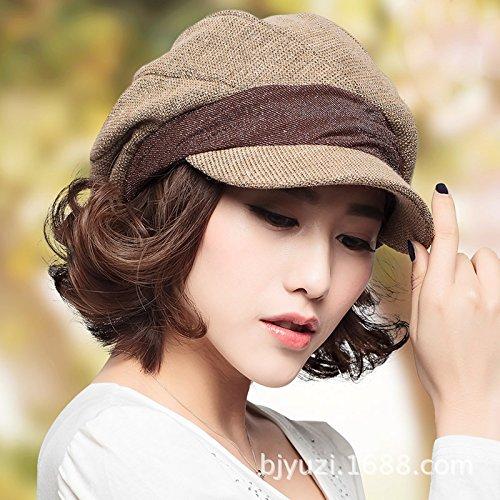 Light coffee color Women's Adjustable Beach Floppy Sun Hat
