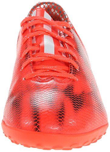 Adidas F10 Rendimiento de fútbol de césped Grapa, Solar rojo / blanco / núcleo Negro, 7 M US Solar Red/White/Core Black