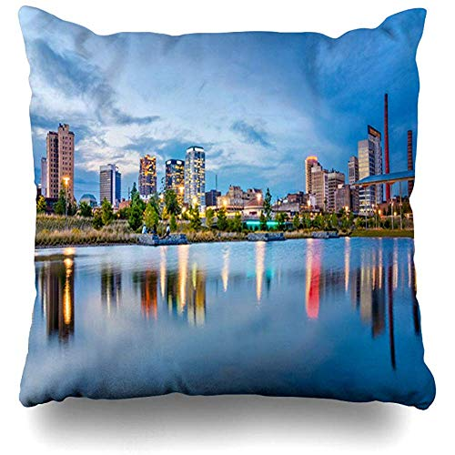 Throw Pillow Cases Cbd Birmingham Alabama USA Downtown City Skyline Parks Scenic America American Apartments Design Pillow Cover Square Size 18