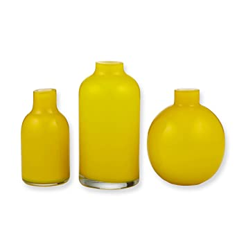 Amalfi Jelly Bean Set Of 3 Vases Size Set Color Yellow Home