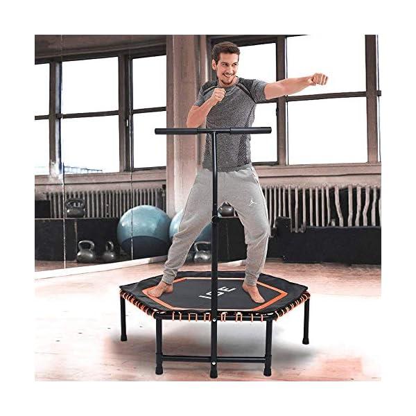 ISE Trampolino Elastico Fitness,Trampolino Mini Indoor con Impugnatura Regolabile in Altezza,Allenamento di Resistenza… 2 spesavip