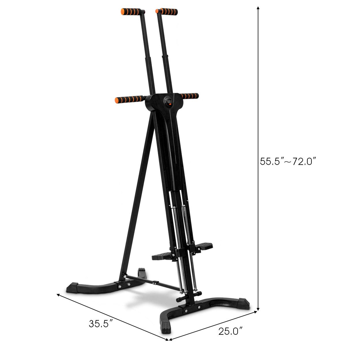 Goplus Vertical Climber Folding Stepper Climbing Exercise Machine w/Adjustable Height LCD Display Cardio Climbing System Home Gym (5 Adjustable Height) by Goplus (Image #7)