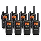 Midland LXT600VP3 36 Channel FRS Two-Way Radio - Up to 30 Mile Range Walkie Talkie - Black (Pack of 8)