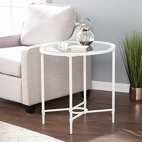 Harper Blvd Quaker Metal/Glass Oval Side Table - (Sei Metal Table)