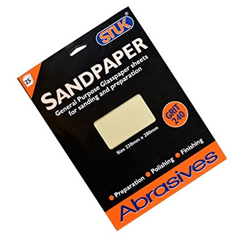 Stuk zasp240l 280 mm x 230 mm Kö rnung 240 EXTRA feine Schleifmittel Schleifpapier Blatt –  Creme (25 Stü ck)