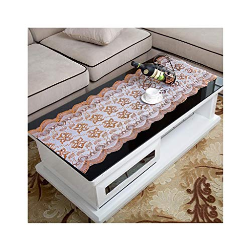LIAN Bronzing Tablecloth Coffee Table Cloth Tableware Pad Oil Tea Set Mat High Temperature Placemat (Color : Orange) ()
