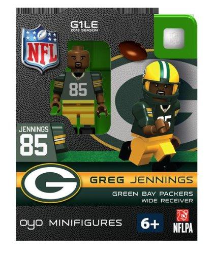 NFL Bay Packers Greg Jennings Green Figurine
