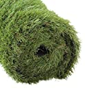 GOLDEN MOON Outdoor Turf Rug Premium Artificial Grass Mat 1 1/2' Blade Height 5-Tone Realistic & Soft Series Green 3x6ft (18sq ft)