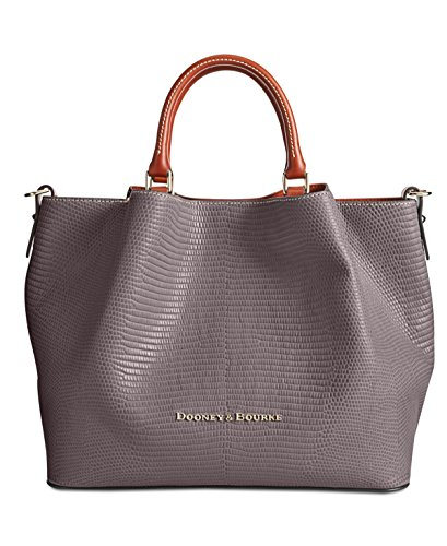 Dooney & Bourke Large Barlow Lizard-Embossed Leather Tote (Grey)