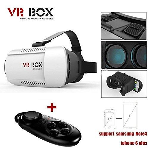 "New Cardboard VR Box Version VR Vitual Reality Glasses Rift + Bluetooth Control Gamepad for 4.7"" - 6.0"" Smart Phone"
