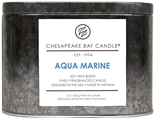 Chesapeake Bay Candle Heritage Collection Double Wick Tin Scented Candle, Aqua - Store Hours Valencia