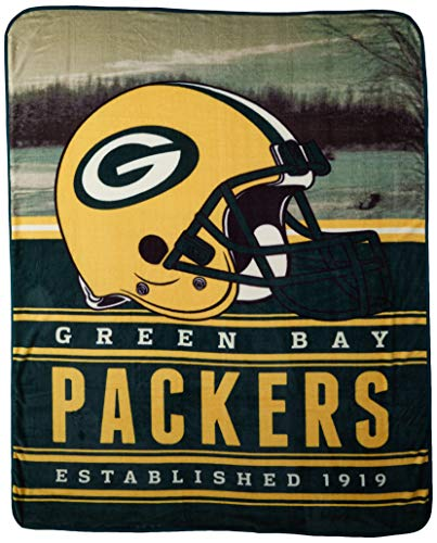 (The Northwest Company Officially Licensed NFL Green Bay Packers Stacked Silk Touch Throw Blanket, 60