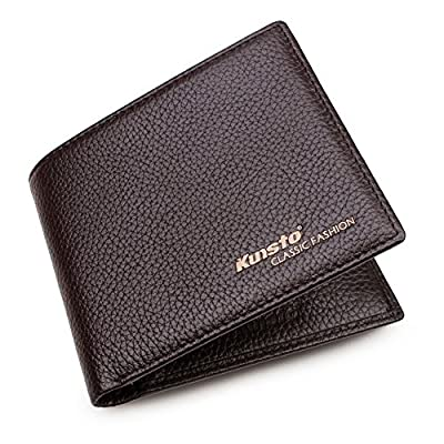 Kunsto Men's RFID Blocking Classic Slimfold Leather Wallet (Sales Up To 70% off)