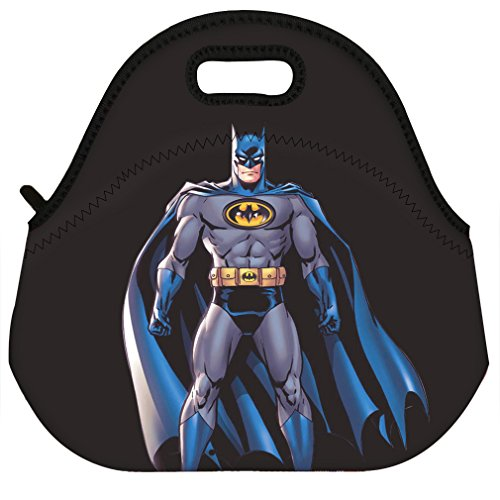 Waterproof Women Men Kids Thermal Insulated Neoprene Lunch Bag Tote for School Work Outdoor , Comics Superhero Batman Pattern