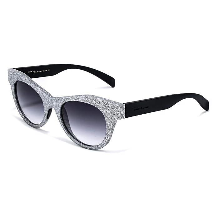 italia independent 0096ST-075-000 Gafas de sol, Plateado, 51 ...